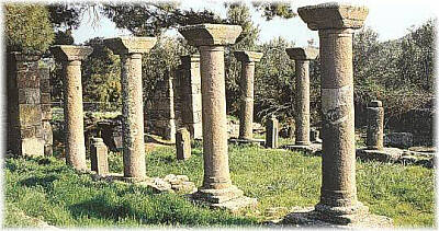 Early Christian Basilica of St. George at Halinado near the village of Agia Paraskevi - Lesvos island