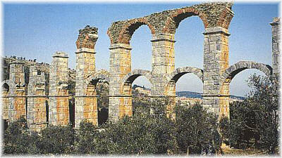 A section of the roman aqueduct in Moria - Lesvos